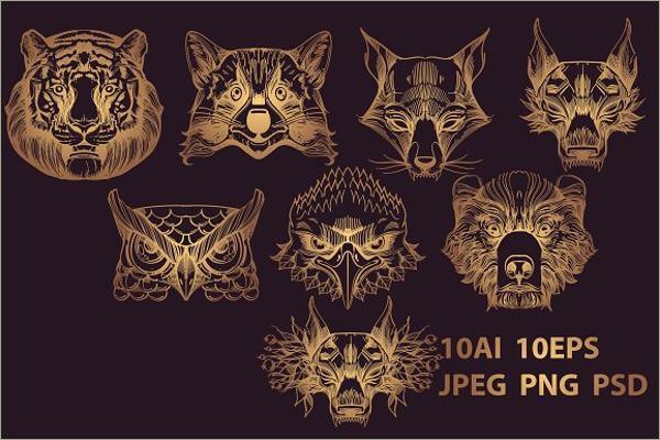 Wild Animals Tattoos Design