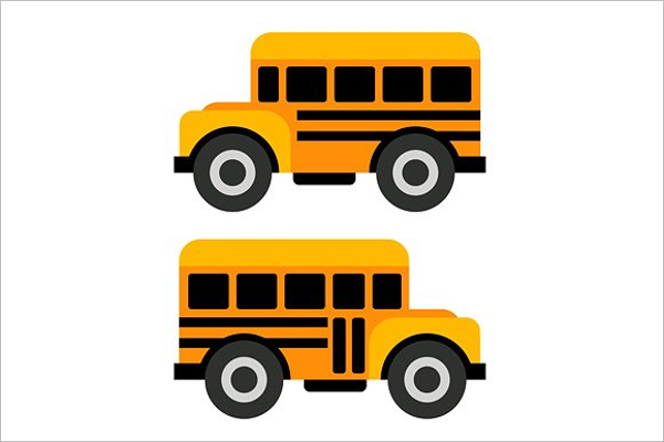 Yellow Bus Vector Illustration