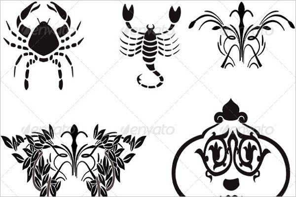 Zodiac Tattoo Collection Design