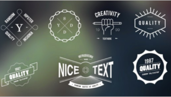Hipster Vintage Badge Templates