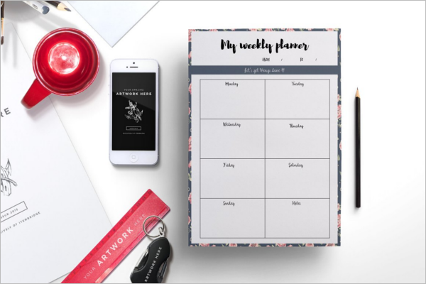 A4 Daily Planner Template