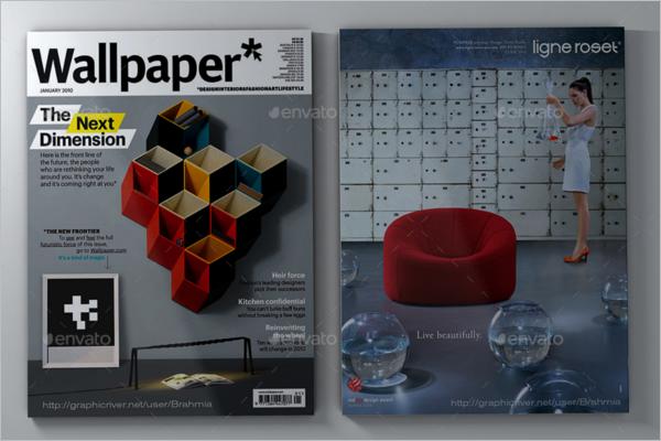 A4Magazine Mockup Design