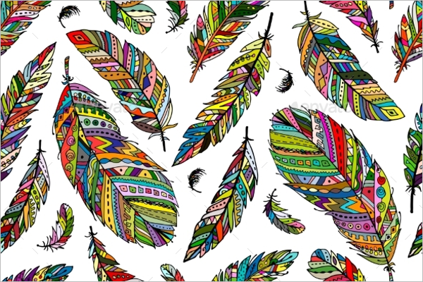 Abstract Feather Pattern Design