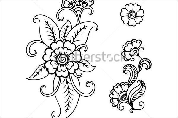 Abstract Flower Tattoo Design