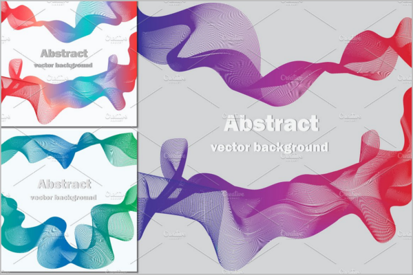 Abstract Vector Wave Background