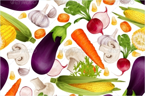 Abstract Vegetables Seamless Pattern