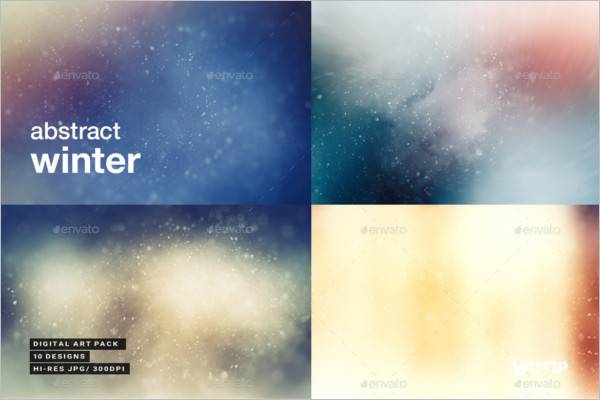 Abstract Winter Vector Background