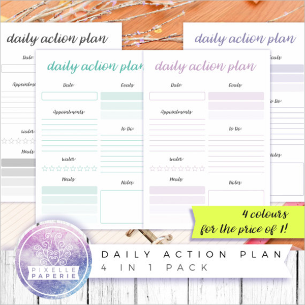 31 Action Plan Templates Free Excel Word Examples Samples – Daily Action Plan Template