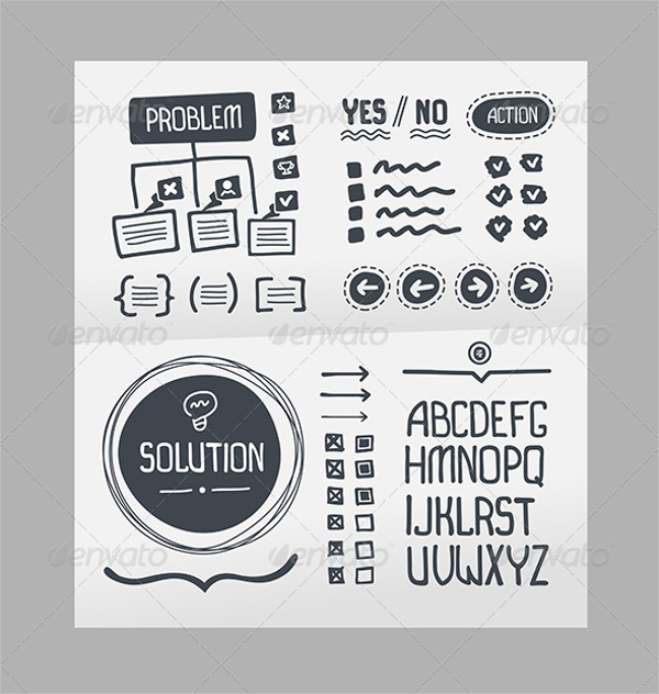 Action Plan Hand Drawn Elements Template