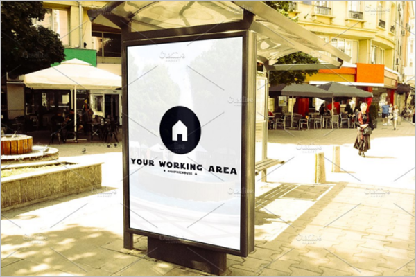 Advertising Mockup Design Vector