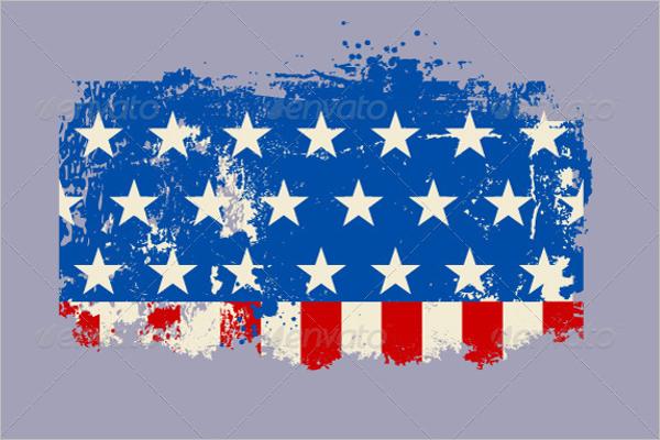 American Flag EPS vector