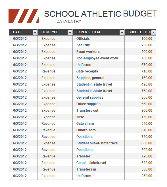 Athletic Budget Free Download