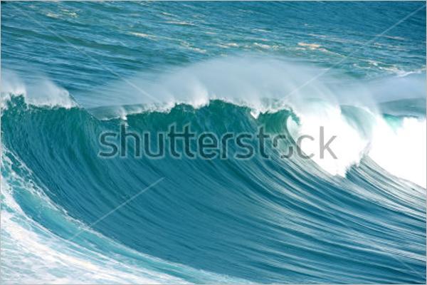 Atlantic Ocean Wave Background