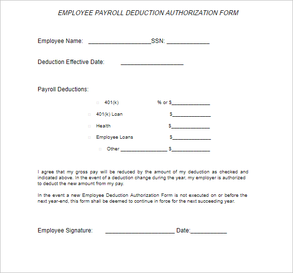 Authorization Letter Form PDF