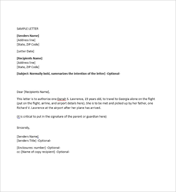 word form letter template