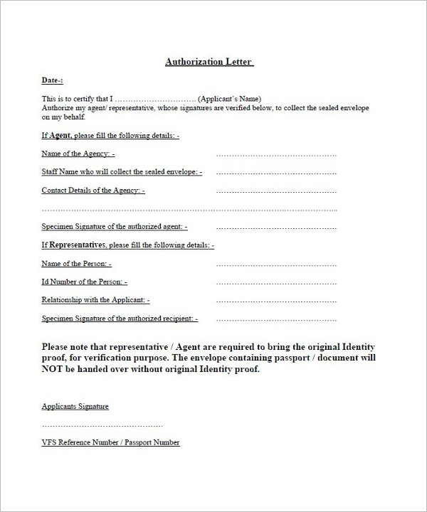 40 Authorization Letter Sample Templates Free Pdf Word