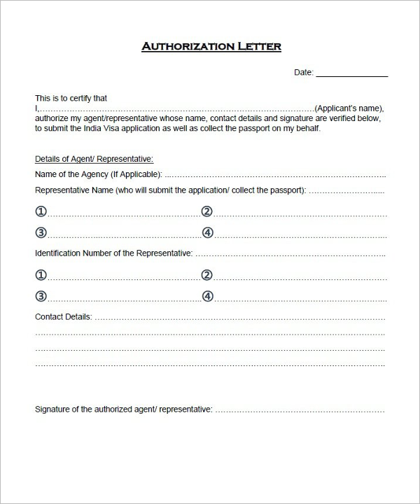 Authorization Letter for New Business