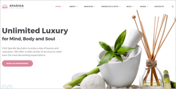 Ayurvedic Spa Website Template