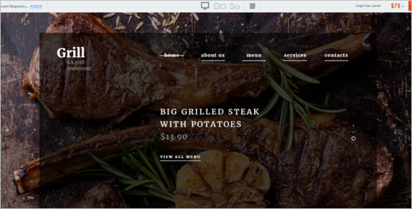 BBQ Restaurant Website Template