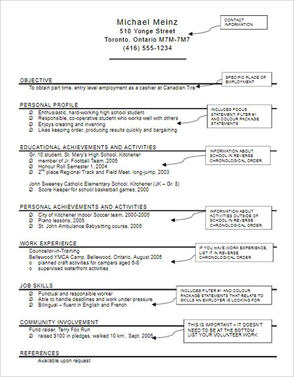 Babysitter Job Description Resume
