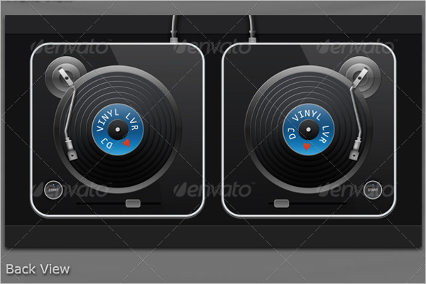 Back View of Vinyl Design