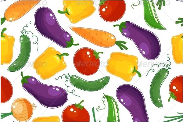 Background Pattern Of Fresh Vegetables