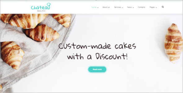 Bakery and Receipts WordPress Theme
