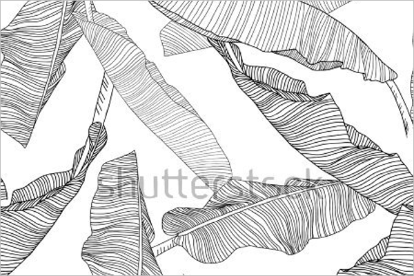 Banana Leaves Seamless Pattern
