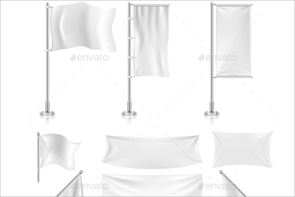 White Fabric Banner Design