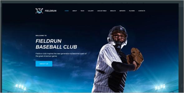 Baseball HTML CMS 3 Template