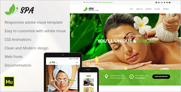 Beauty Care Website Template