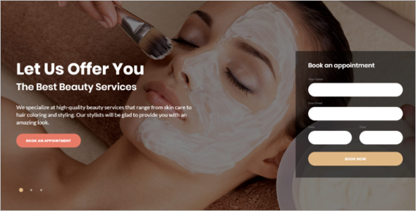 Beauty ParlourWebsite Template