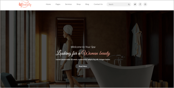 BeautySalon Website Template