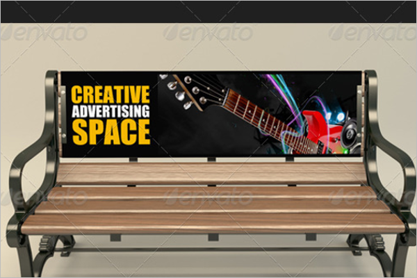 Bench Advertising Mockup Template