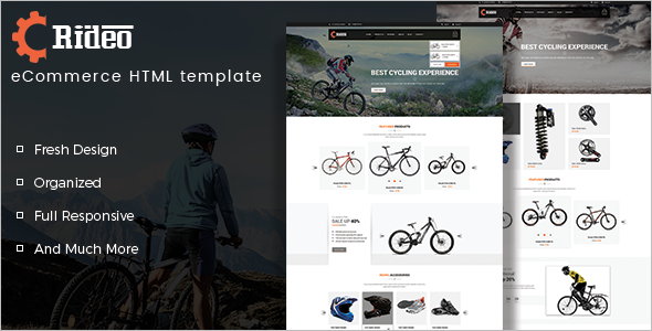 Best Bike Shop Website Template