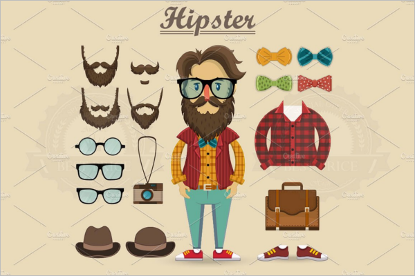 Best Hipster Character Design