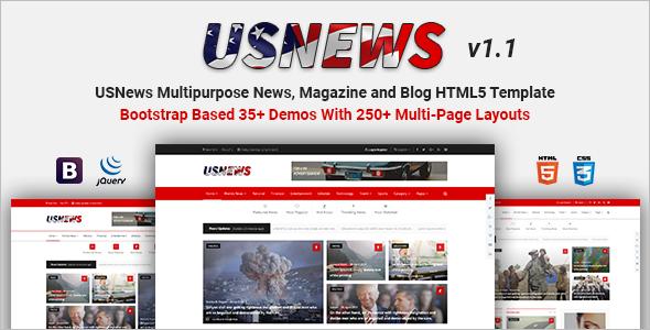 Best Magazine HTML5 Template