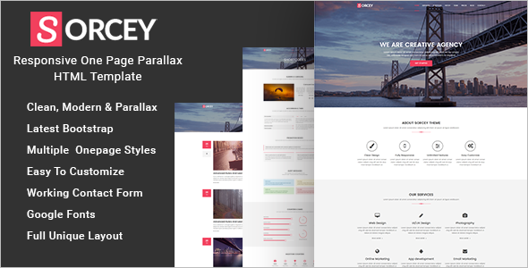 Best One Page Parallax HTML Template