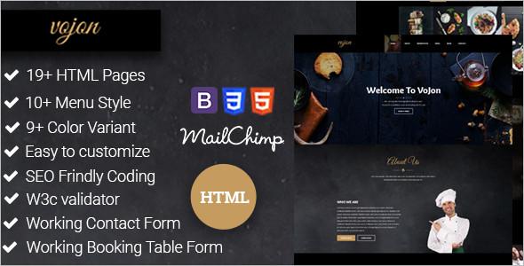 Best Restaurant HTML5 Template