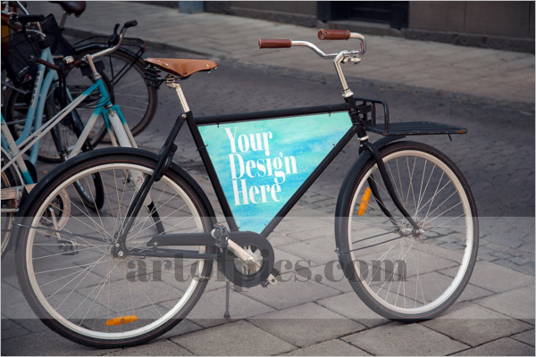 Bicycle Advertising Mockup Design