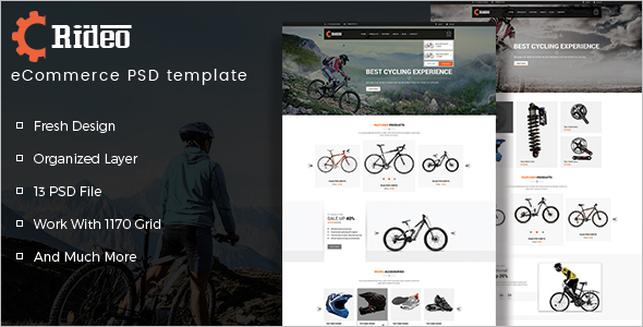Bicycle Website Template