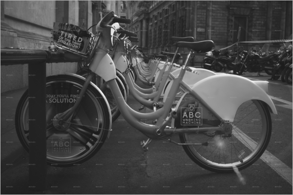 Bike PromotionalAdvertising Mockup Template