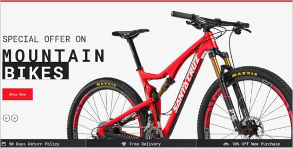 Bike Store Website Theme