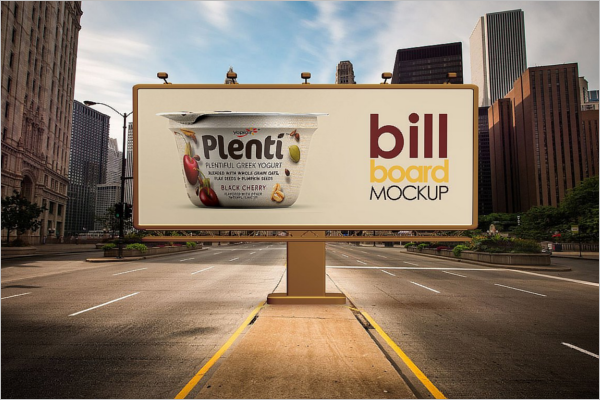 Bill Board Advertising Mockup PSD Template