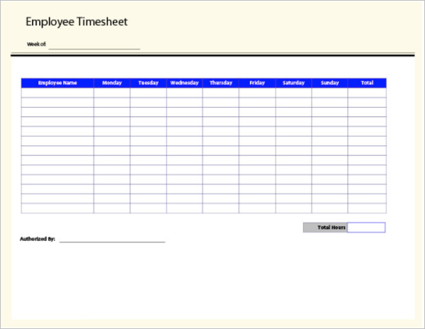 50 Printable Timesheet Templates Free Word Excel Documents – Sample Biweekly Timesheet