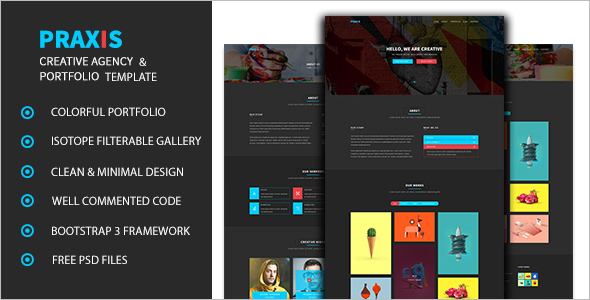 Black Background HTML Template