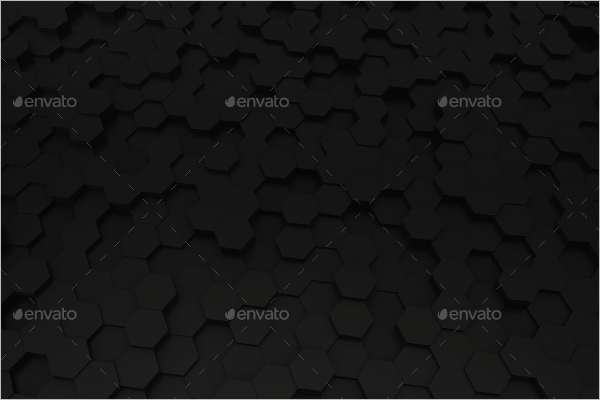 Black Hexagon Background