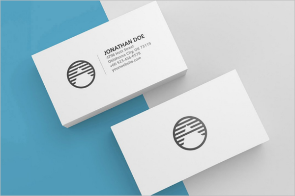 Blank Business Card PSD Mockup
