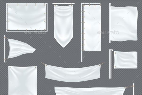 Blank Fabric Banner Design