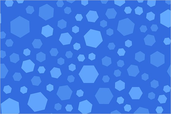 Blue Hexagon Background